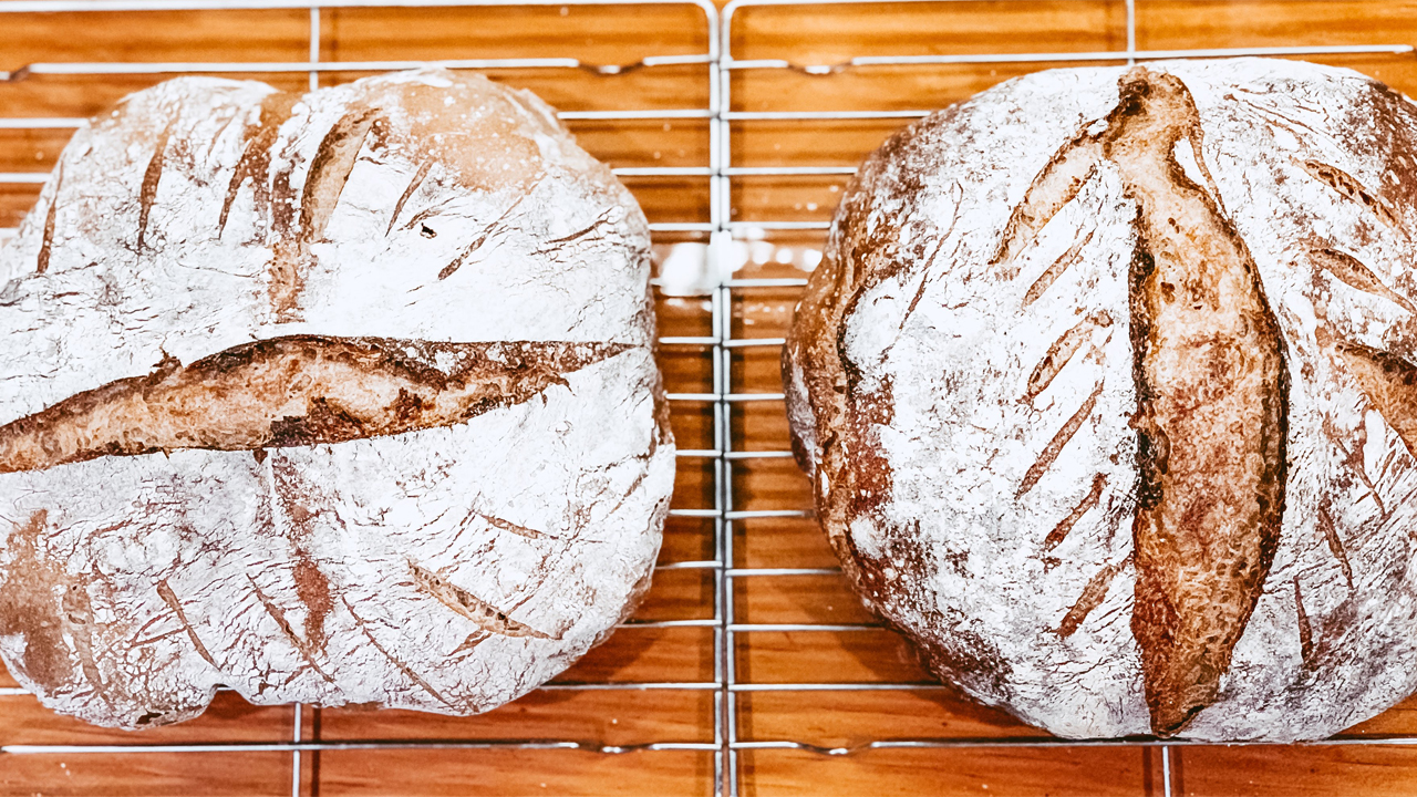 2 Sourdough loaves